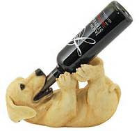 Dog Playful Puppy - WINE BOTTLE HOLDER