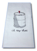 """I'd Tap That"" Beer Bar Towel"