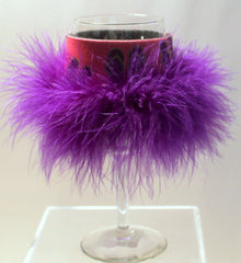 Purple Flipflops Wine Glass Huggie