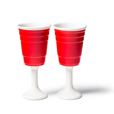 RED CUP WINE GLASS SET (2PK)
