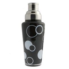 Black & White Dots Glass - Martini Shaker