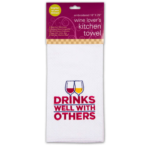 Drinks Well Kitchen Towel