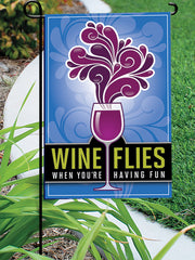 Wine Flies - Garden Flag