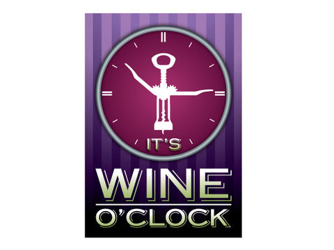 Wine O'Clock - Garden Flag