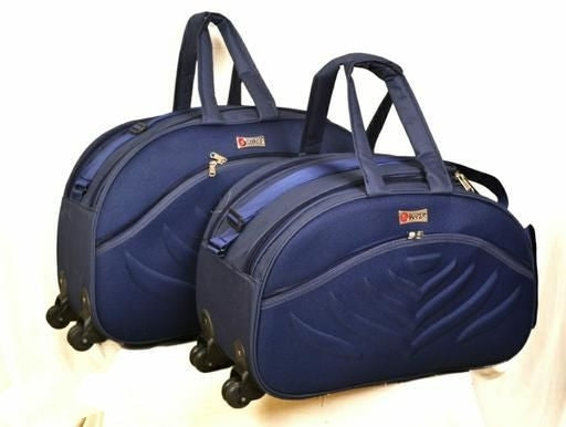 Luggage Travel Duffel Bag 60L with Wheels (Pack of 2)