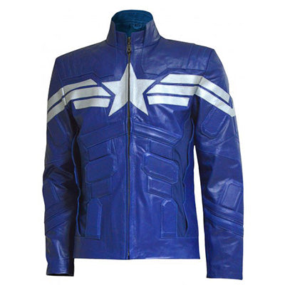 Captain America The Winter Soldier Cosplay Leather Jacket