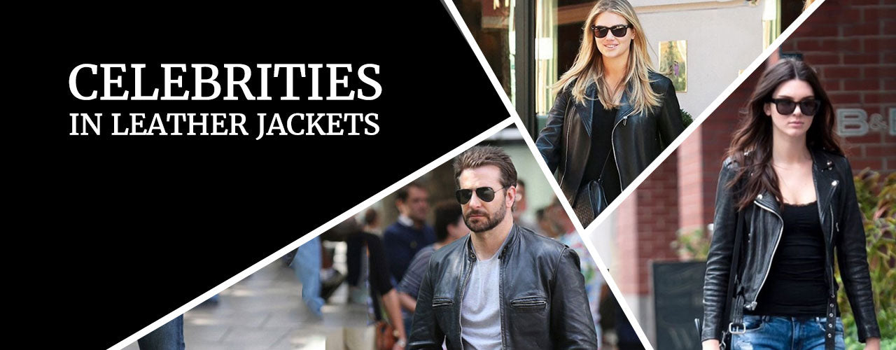 Celebrities Spotted Wearing Leather Jackets