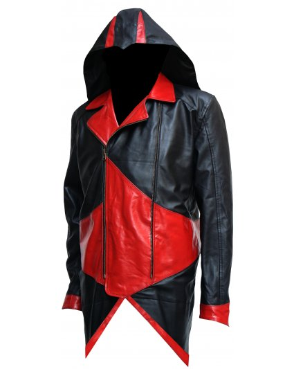 Assassins Creed Cosplay Costume Hoodie Leather Jacket
