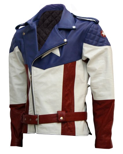 THE FIRST AVENGER HOT VERSION CAPTAIN AMERICA LEATHER JACKET
