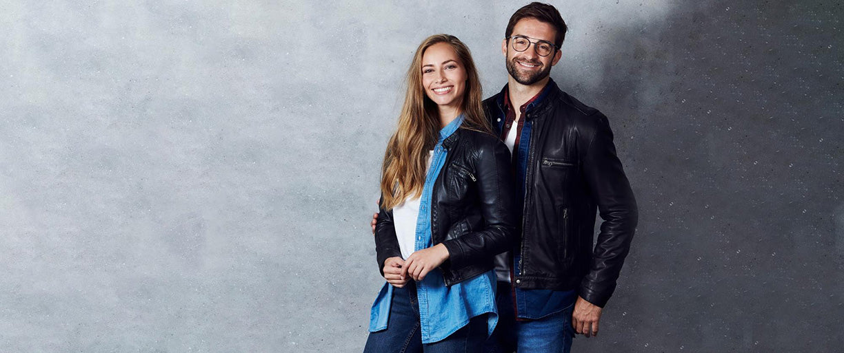 Black Leather Jacket and Blue Jeans - Perfect Match