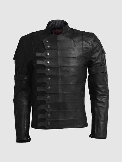 Captain America Winter Soldier Black Leather Jacket - Leather Jacket Shop