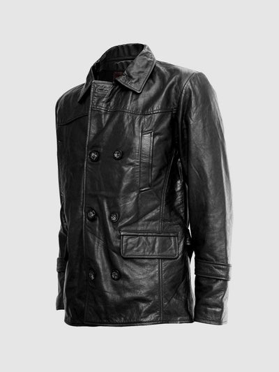 Christopher Eccleston DR Who Black Leather Jacket - Leather Jacket Shop