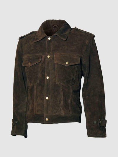 Beatles John Lennon Brown Suede Leather Jacket - Leather Jacket Shop