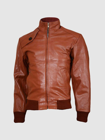 Fashion Centric Tan Brown Leather Jacket for Men - Leather Jacket Shop