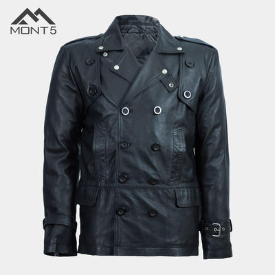 MONT5 - Trango Men Black Coat - Leather Jacket Shop