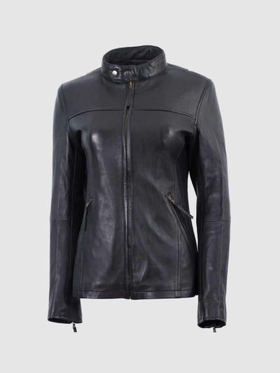 Lightweight Black Biker Jacket Women - Leather Jacket Shop