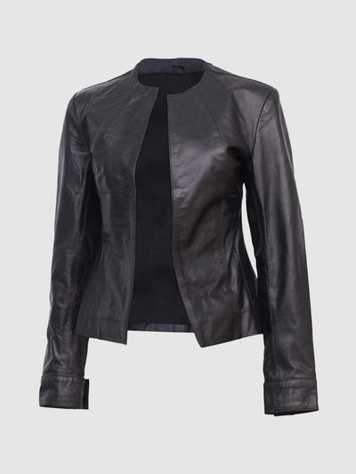 Timeless Black Women Designer Leather Jacket - Leather Jacket Shop