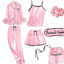 Load image into Gallery viewer, Pretty Pink 7 Piece Sleepwear set