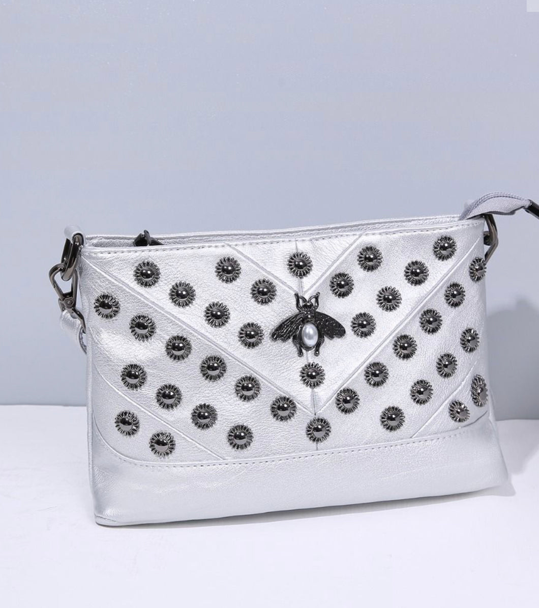 Silver Bee Pearl Bag