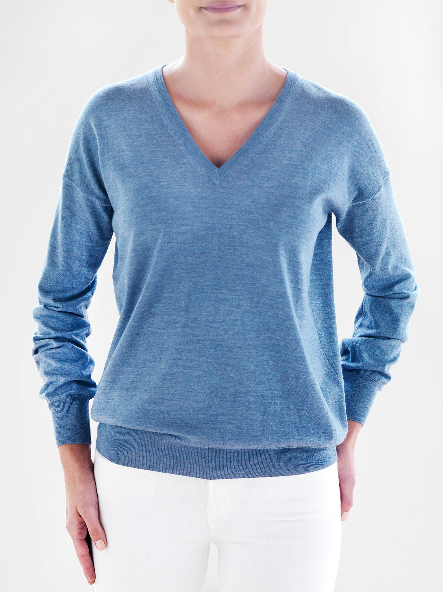 Women's Fit V-Neck Sweater