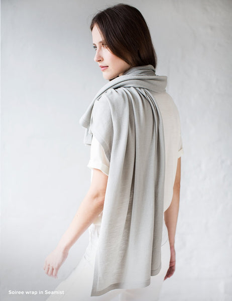 Australian Superfine Merino Wrap Travel Size - Seamist