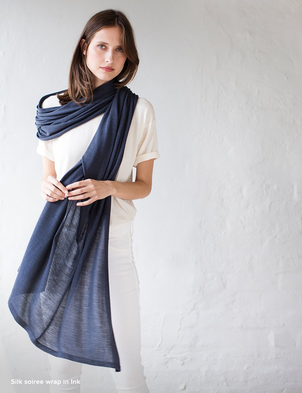 Australian Superfine Merino Wrap Travel Size - Silk Ink