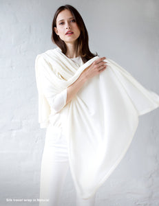 Australian Superfine Merino Wrap Travel Size - Silk Natural