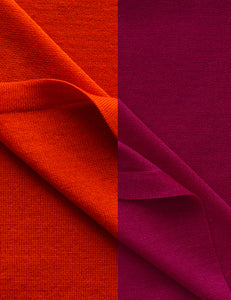 Australian Superfine Merino Wrap Soiree Size - Berry and Persimmon