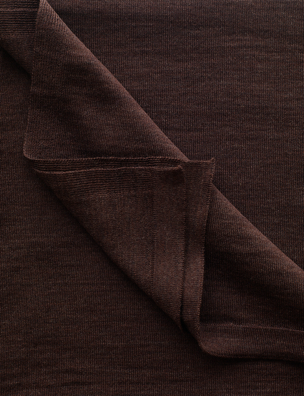 Australian Superfine Merino Wrap Travel Size - Chocolate Marle