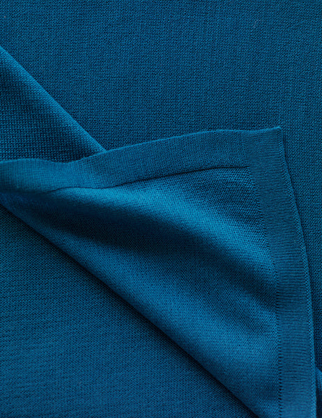 Australian Superfine Merino Wrap Colour - Deep Water Blue