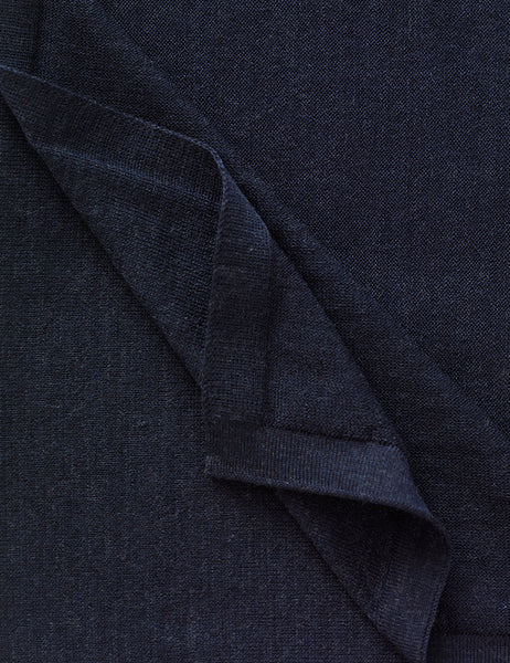 Australian Superfine Merino Wrap Colour - Navy Marle