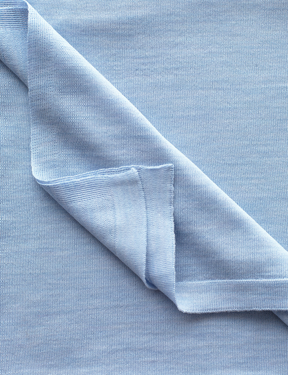 Australian Superfine Merino Wrap Colour - Pale Blue Marle