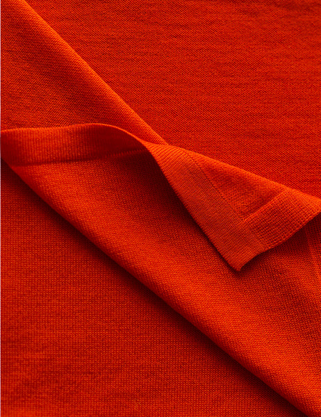 Australian Superfine Merino Wrap Colour - Persimmon