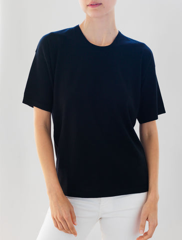 Luxo Knit T Round Neck - Black