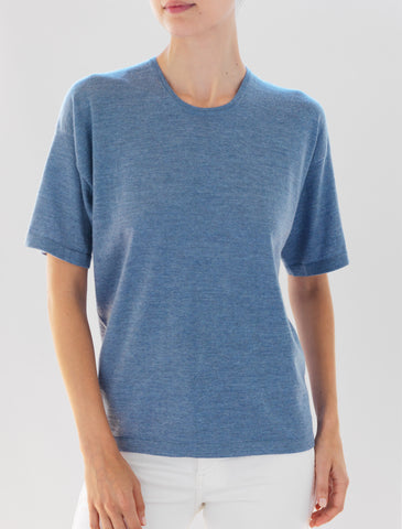 Luxo Knit T Round Neck - Chambray