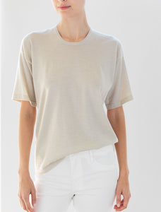 Luxo Knit T Round Neck - Oatmeal