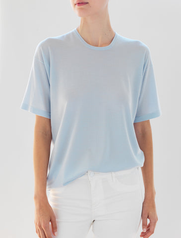 Luxo Knit T Round Neck - Pale Blue