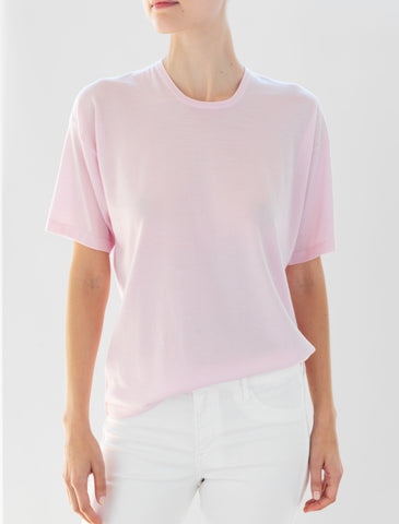 Luxo Knit T Round Neck - Pale Pink