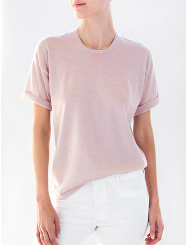 Luxo Knit T Round Neck - Blush