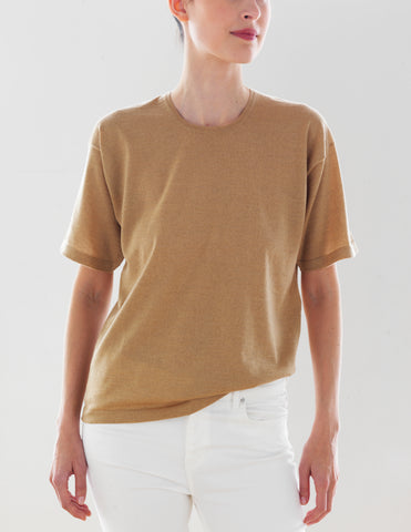 Luxo Knit T Round Neck - Wheat