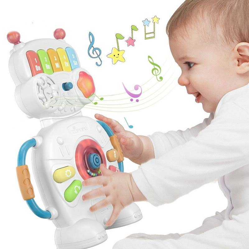 Baby Robot Educational Music and Lights Piano Keyboard Toy