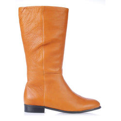 Jane tan whiskey leather knee high boots for women lifestyle