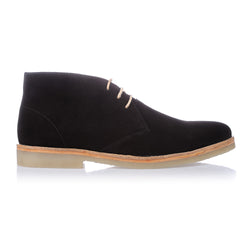 Tim black suede lace up ankle boots for men