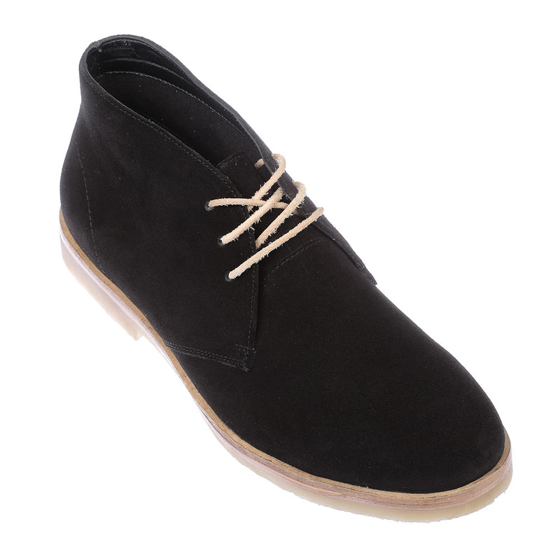 Tim black suede lace up ankle boots for men 2