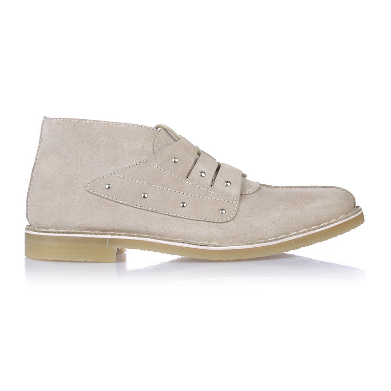 Liam sand suede ankle boots for men