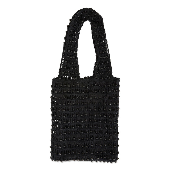 alila black cotton bag with beads