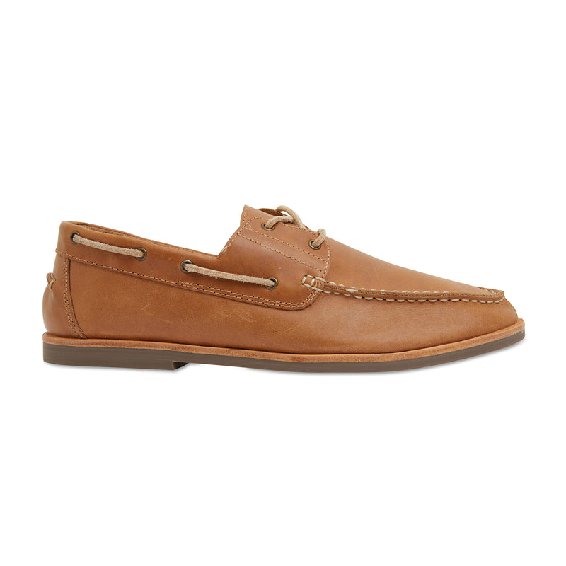 Billi II tan leather boat shoes for men