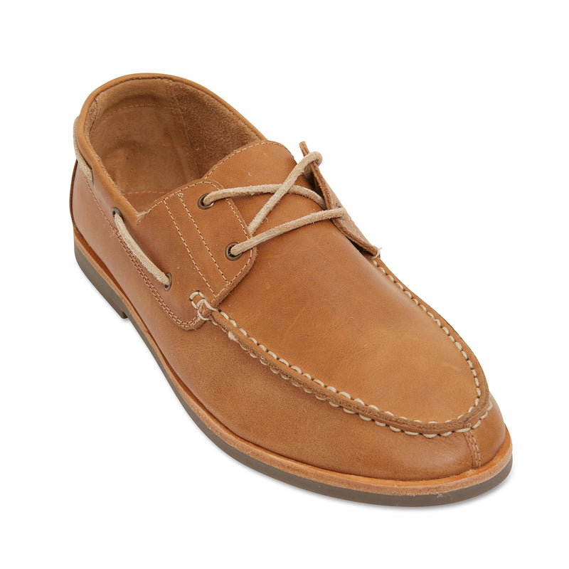Billi II tan leather boat shoes for men 1