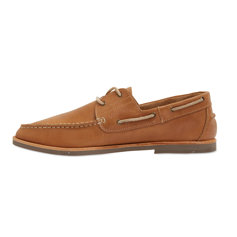 Billi II tan leather boat shoes for men 2
