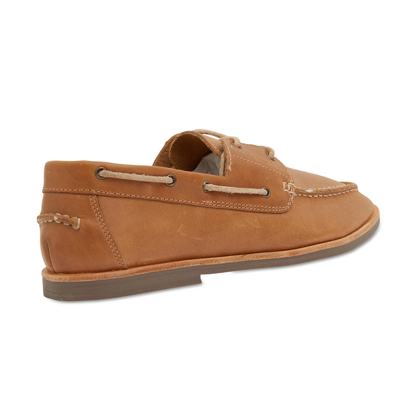 Billi II tan leather boat shoes for men 3